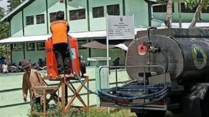 BPBD Bondowoso Rutin Droping Air Agar Masyarakat Terbiasa Cuci Tangan, Cegah Penularan Covid-19