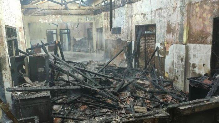 Gudang Bekas Puskesmas Kedundung Mojokerto Hangus Terbakar, Saksi Sempat Lihat Asap Hitam