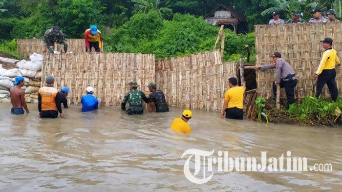 Tanggul Sungai di Jombang Jebol Hingga 10 Meter, Belasan Hektar Sawah Kebanjiran dan Rusak