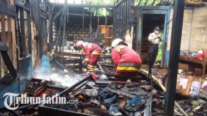 Ditinggal Bantu Hajatan, Rumah Warga di Bojonegoro Dilalap Api, Diduga Korsleting Listrik