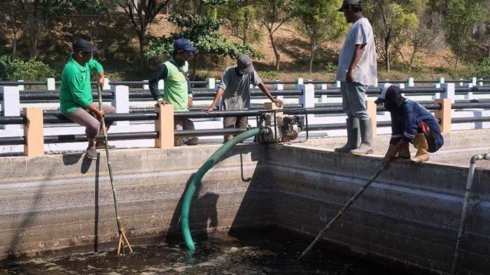 Antisipasi Bau Menyengat, DLHKP Kota Kediri Bersihkan Kolam Penampungan Air Lindi di TPA Klotok