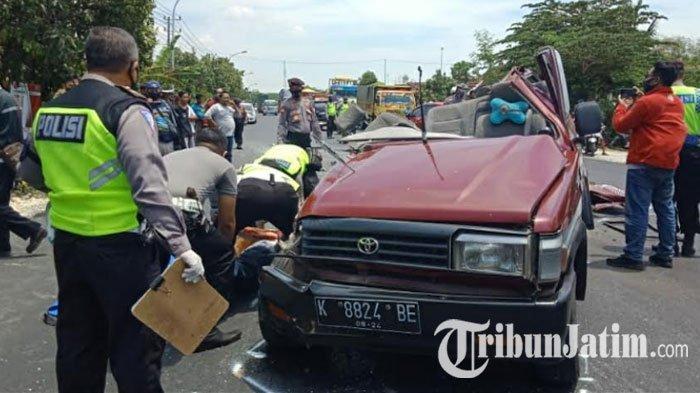 NEWS VIDEO - Detik-detik Kecelakaan Maut Mobil vs Truk di Jalan Pantura, 6 Minggal Dunia di TKP