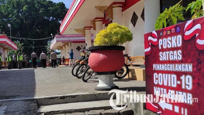 Persiapan PPKM Darurat di Kota Blitar, Petugas Dirikan Posko Gabungan di PIPP