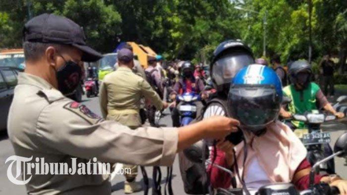Gelar Operasi Yustisi di Sejumlah Titik, Petugas Gabungan Kediri Tak Menemukan Pelanggaran Prokes