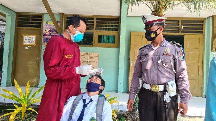 Polisi Presisi Sambang Sekolah Antisipasi Klaster Pembelajaran Tatap Muka di Kediri