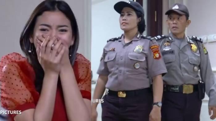 Petugas kepolisian mendatangi rumah Nino dan menangkap Elsa.