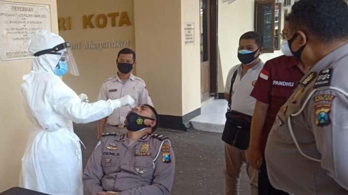 Antisipasi Penyebaran Covid-19, Seribu Lebih Anggota Polres Kediri Kota Jalani Rapid Antigen