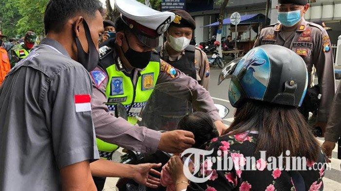 Laksanakan Instruksi Bupati Nganjuk, Satgas Covid-19 Gelar Operasi Yustisi Jaring Pelanggar Prokes