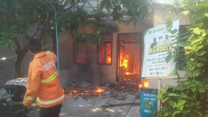 Elpiji Meledak Hanguskan Sebuah Rumah di Gresik, Tidak Ada Korban Jiwa