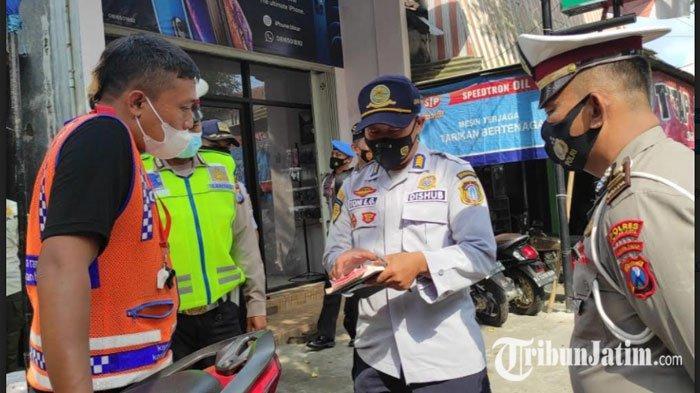 3 Jukir Liar di Kota Blitar Terjaring Razia Pungli oleh Petugas Gabungan