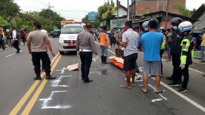 Ini Penyebab Kecelakaan yang Menewaskan Pemotor di Jalan Raya Bangsal Mojokerto