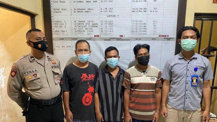 Tiga Warga Pare Kediri Dicokok Satreskrim Polres Kediri Saat Sedang Asyik Main Judi Dadu di Kuburan