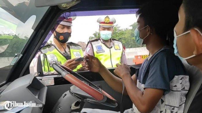 Pengirim Blewah Putar Balik di Pintu Tol Malang, Tidah Tahu Ada Penyekatan, Surat Jalan Tidak Bawa