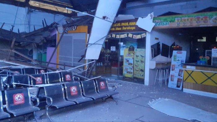 Atap Ruang Tunggu Stasiun Pasar Turi Surabaya Ambruk, Tak Ada Korban Jiwa