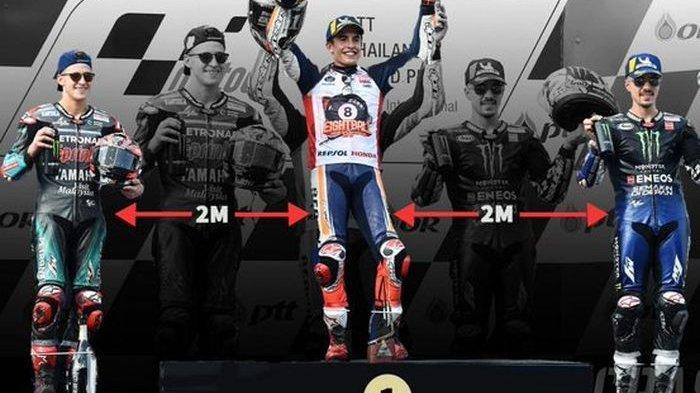 MotoGP Bakal Terapkan Aturan Pembatasan, Tidak Jabat Tangan & Sosial Distancing Saat di Podium Juara