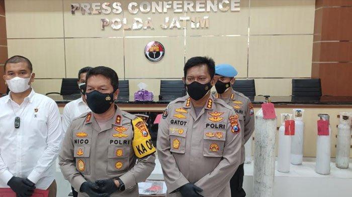 Polda Jatim Bongkar Kasus Penimbun Tabung Oksigen dan Jual Melebihi HET di Sidoarjo