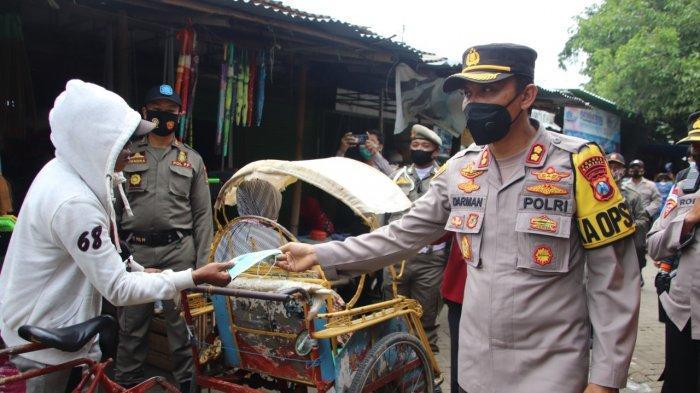 Penyebaran Virus Covid-19 Semakin Tinggi di Sumenep, Polisi Bagikan 500 Masker