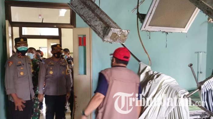 Perbaikan Ruang Cempaka RSUD Mardi Waluyo Kota Blitar yang Terdampak Gempa Sudah Hampir Selesai