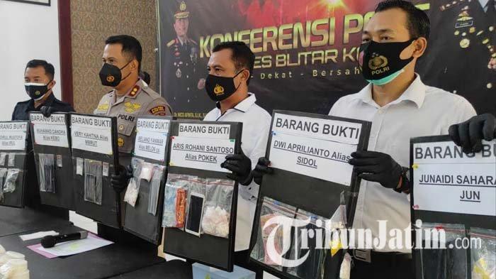 Operasi Tumpas Narkoba 2021 di Blitar, Polisi Tangkap 11 Pengedar dan Sita Ribuan Pil Dobel L