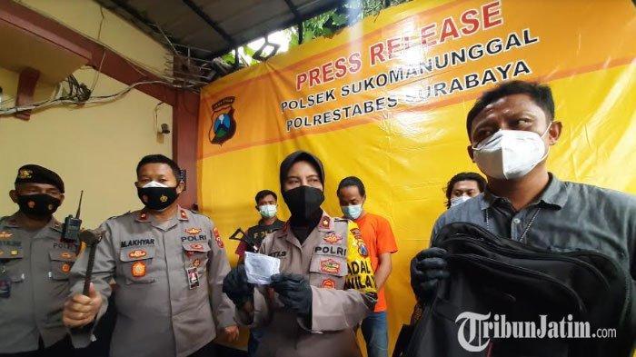 Takut Dimassa, Pencuri Peralatan Bengkel Las Sembunyi di Plavon Rumah Warga di Surabaya