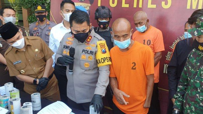 Polisi Gerebek Tiga Home Industri Produksi Petasan di Mojokerto