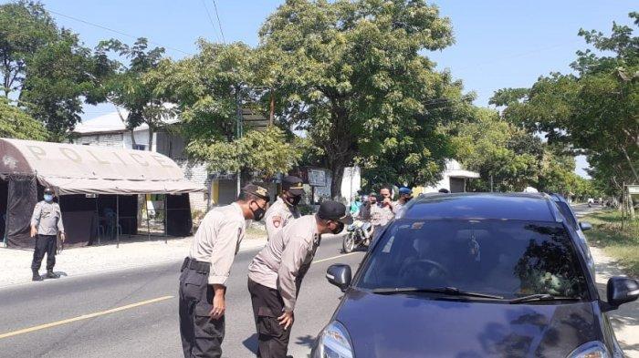 79 Personel Dilibatkan dalam KRYD, Posko Penyekatan Larangan Mudik di Desa Ambat Pamekasan