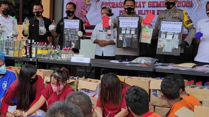 Polres Blitar Kota Ungkap 279 Kasus dengan 280 Tersangka di Operasi Pekat Semeru 2021