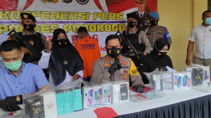 Gasak 28 Ponsel Konter HP Artomoro Ponorogo, Residivis Asal Lampung Diringkus Polres Ponorogo