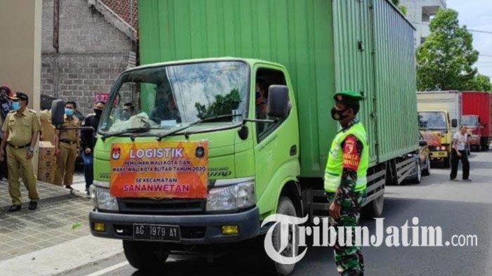 Pendistribusian Logistik Pilwali Blitar 2020 Dikawal Ketat Aparat, Surat Suara Dikirim ke TPS Besok