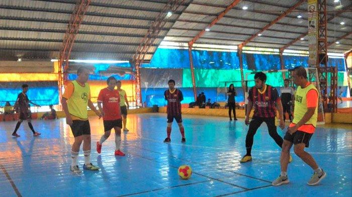 Tanding Futsal Bareng, Polrestabes Surabaya Jalin Kebersamaan dengan Wartawan