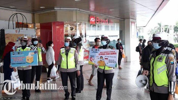 Sosialisasi 'Pilwali Kota Surabaya Sehat', Polisi Ajak Pakai Hak Pilih dan Patuh Protokol Kesehatan