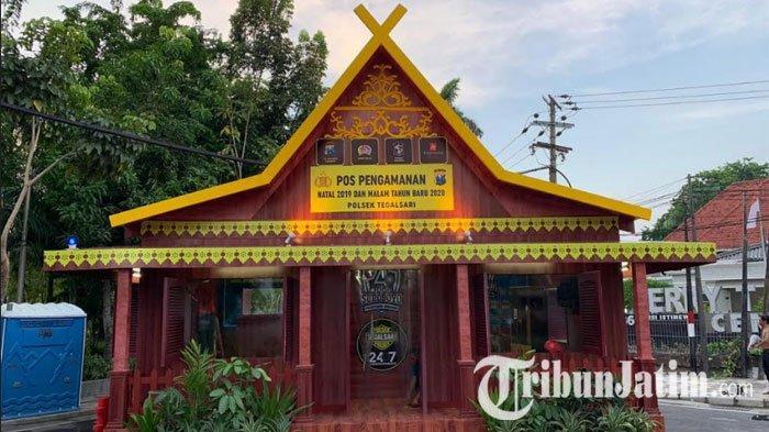 Polrestabes Surabaya Lombakan 21 Pos Pengamanan Nataru 2019, Ada yang Instagramable!