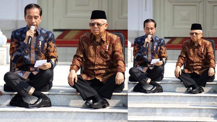 VIRAL Posisi 'Aneh' Kaki Jokowi saat Umumkan Nama-nama Menteri, Bakal Jadi Challenge Baru?
