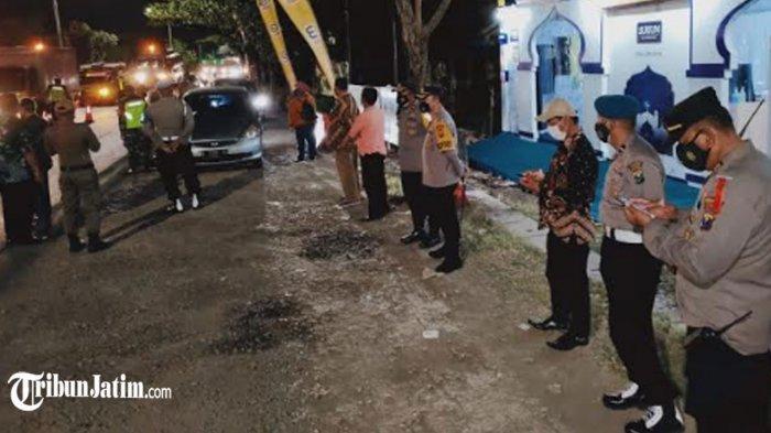 Kapolres Gresik AKBP Arief Fitrianto Cek Pospam Larangan Mudik 2021, Hari Pertama Masih Lengang