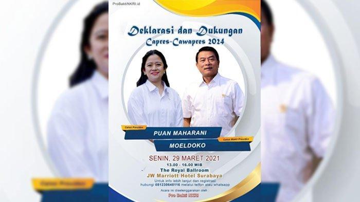 PDIP Jatim Sebut Poster Deklarasi Duet Puan-Moeldoko Hoaks, Bagaimana Peluang Keduanya di Pilpres?