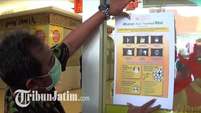 Mall di Surabaya Mulai Sosialisasi Protokol New Normal, Poster Ditempel Biar Pengunjung Aman