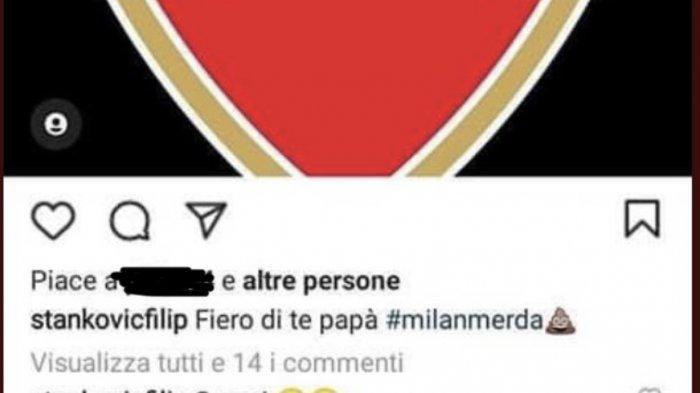 postingan Filip Stankovic yang kini telah dihapus