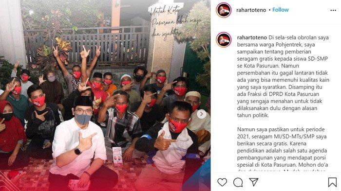 Teno Tuding Ada Fraksi Penghambat Proyek Pengadaan Seragam Gratis, DPRD Kota Pasuruan: Tidak Benar!