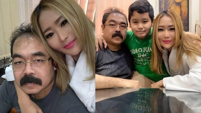Potret kebersamaan Inul Darastita bersama suaminya Adam Suseno dan putranya.