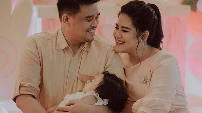 Potret keluarga Bobby Nasution bersama Kahiyang Ayu dan putri mereka Sedah Mirah.