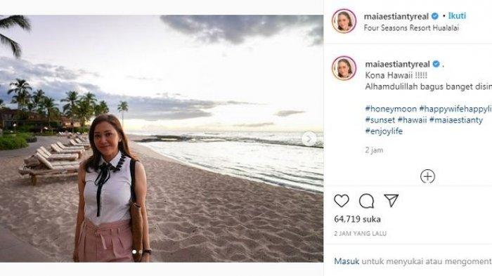 Potret Maia Estianty di Hawaii.
