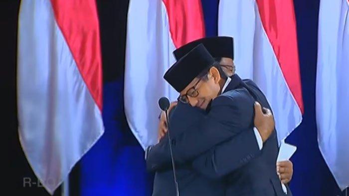 Foto Prabowo-Sandi dan Anies Baswedan-Sandi Pelukan Viral, Jubir BPN Tulis 'Sejarah Terulang'