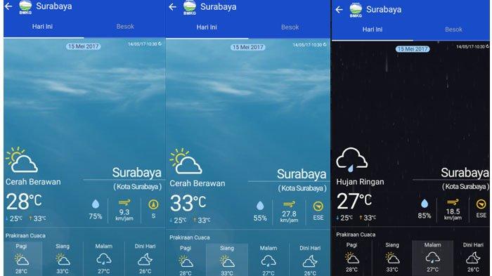 Surabaya Akan Diguyur Hujan Pada Malam Hari Berikut Prakiraan Cuaca Surabaya Untuk 15 Mei 2017 Tribun Jatim