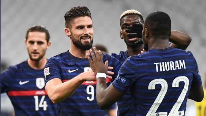 Hasil Prancis Vs Swedia, Dwigol Olivier Giroud Bawa Les Bleus Menang 4-2