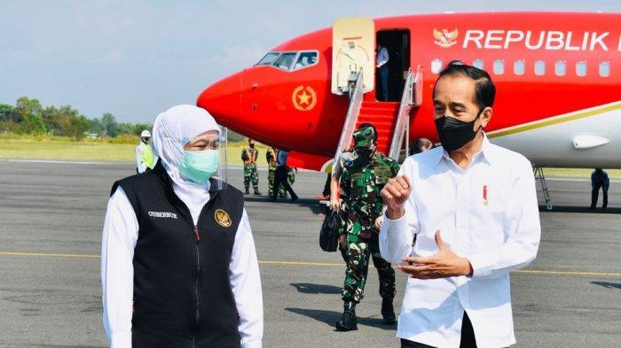 Dihadapan Presiden Jokowi, Gubernur Khofifah Laporkan Penanganan Covid-19 Jatim Mulai Kondusif