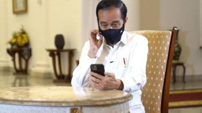 Presiden Joko Widodo (Jokowi) menyapa dokter spesialis paru yakni Dokter Faisal Rizal Matondang secara virtual.