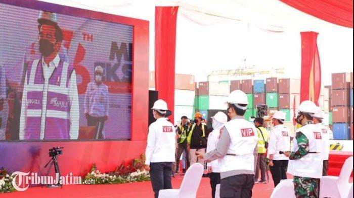Presiden Jokowi Lepas Ekspor Komoditas Pertanian Jatim Senilai Rp 1,3 Trilliun