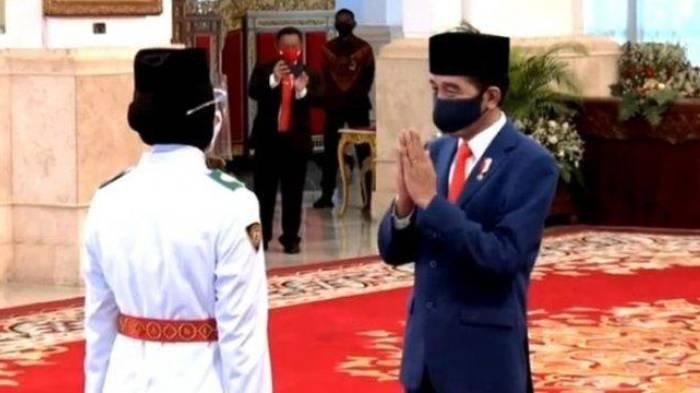 Pelaksanaan Upacara HUT RI ke-75 di Istana Merdeka, Peserta Upacara Hanya 6, Paskibraka 3 Orang Saja