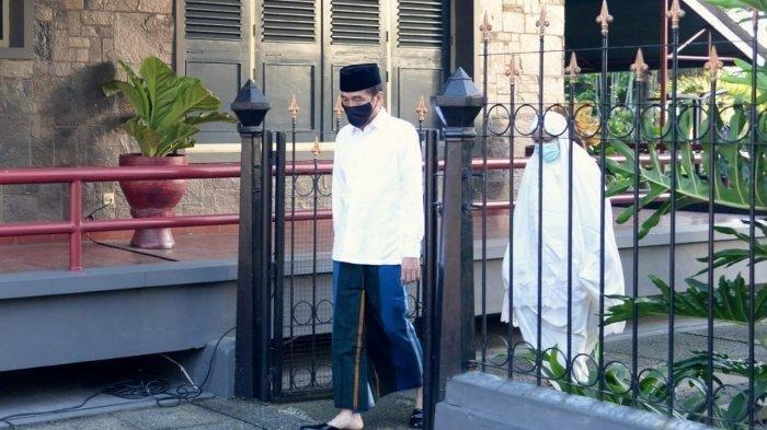 Laksanakan Salat Idul Fitri Berjemaah di Halaman Istana Bogor, Ini Potret Keluarga Presiden Jokowi