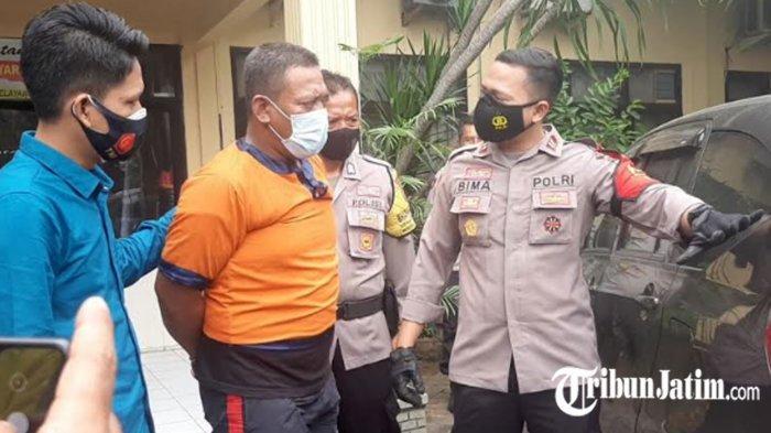 Tertangkap Pria Hantam Paving ke Mobil Mahasiswi Gresik, Pelaku Satpam, 'Menyesal Tersulut Emosi'